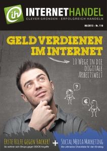 Internethandel.de Titelbild Ausgabe Nr 116 06-2013 Geld verdienen im Internet